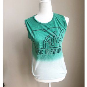 MTV Green Ombre Sleeveless Top Size Small